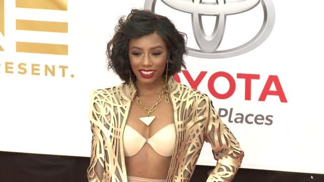 Imani Hakim at the 49th NAACP Image Awards at Pasadena Civic Auditorium on January 15 2018 in Pasadena California