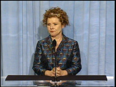 Imelda Staunton at the 2005 Annual Academy Awards Nominee Luncheon Interview Room at the Beverly Hilton in Beverly Hills California on February 7 2005