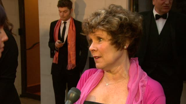 Imelda Staunton on being up for Best Actress on the awards being a celebration on being in Harry Potter at the 2010 Laurence Olivier Awards at London...