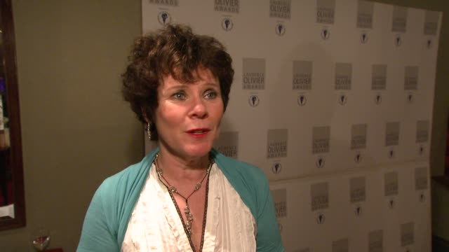 Imelda Staunton on presenting Patrick Stewart with his award at the Laurence Olivier Awards 2009 at London