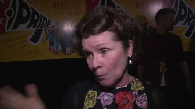 INTERVIEW Imelda Staunton on the movie and surrounding story at Pride UK Film Premiere on 2nd September 2014 in London England