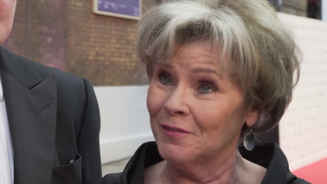 Imelda Staunton on the Old Vic and its history at The Old Vic Theatre on May 13 2018 in London England