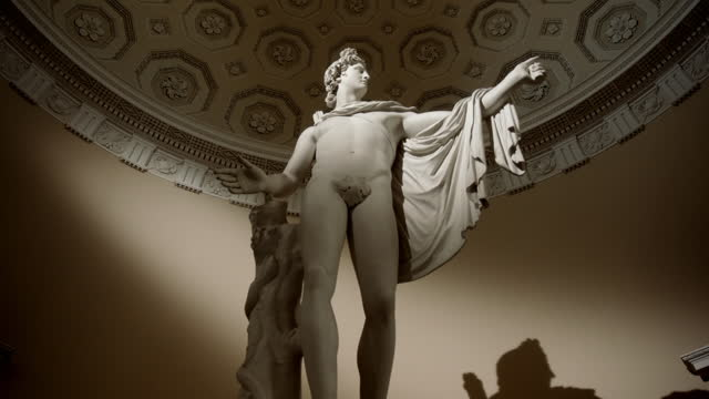 imitation apollo belvedere at syon house, uk - male likeness stock videos & royalty-free footage