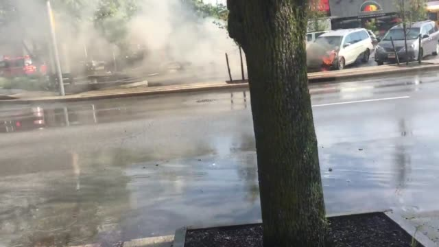 immediately after a thunderstorm the car was burning in a parking lot near the long beach library lb fd response there was a hole in the windshield... - education building stock videos & royalty-free footage