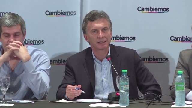 immediately after taking office we will demand the liberation of leopoldo lopez said argentinas conservative presidential candidate mauricio macri on... - mauricio macri stock videos and b-roll footage