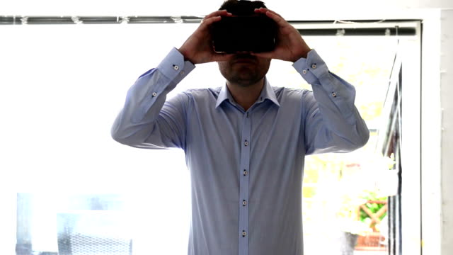 Immersive virtual reality experience with VR glasses