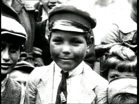immigrant boys and girls smile. - 1910 stock videos & royalty-free footage