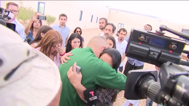 a immigrant romulo avelicagonzalez who was detained while taking daughters to school was released from custody and reunited with family six months... - reconciliation stock videos & royalty-free footage