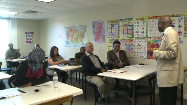 immigrants study english language and american culture / somalis settle in ohio/ social services help immigrants join american community - english language stock videos and b-roll footage