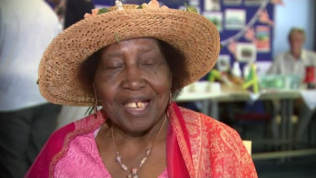 70th anniversary of the arrival of the windrush generation england essex tilbury int people attending service to mark empire windrush liner at... - hmt empire windrush stock videos & royalty-free footage