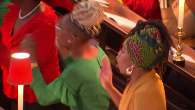70th anniversary of the arrival of the windrush generation england london westminster westminster abbey int various shots of gospel choir performing... - choir stock videos & royalty-free footage