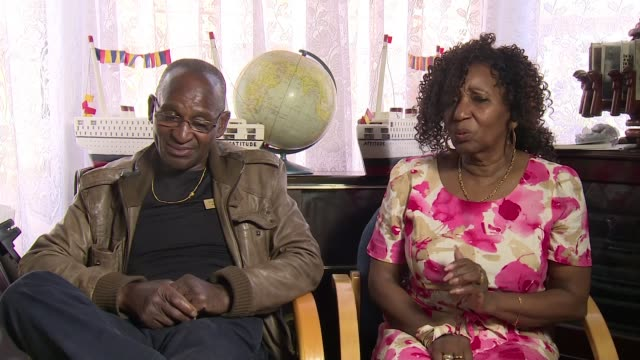 70th anniversary of the arrival of the windrush generation england west midlands birmingham handsworth int delores pinkney and hector pinkney... - handsworth stock videos & royalty-free footage