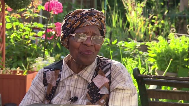 70th anniversary of the arrival of the windrush generation england west midlands birmingham handsworth ext eunice mcghiebelgrave interview sot - handsworth stock videos & royalty-free footage