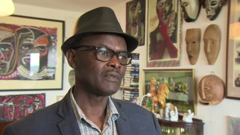 70th anniversary of the arrival of the windrush generation; england: west midlands: birmingham: handsworth: int vanley burke interview sot. - handsworth stock videos & royalty-free footage