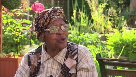70th anniversary of the arrival of the windrush generation; england: west midlands: birmingham: handsworth: ext eunice mcghie-belgrave interview sot. - handsworth stock videos & royalty-free footage