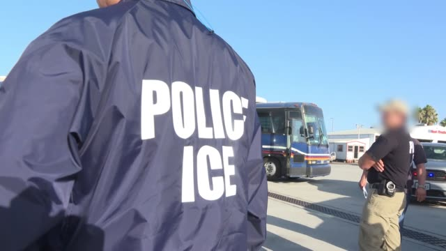 immigration and customs enforcement and enforcement and removal operations conducted a family unit repatriation flight to guatemala on tuesday,... - detainee stock videos & royalty-free footage