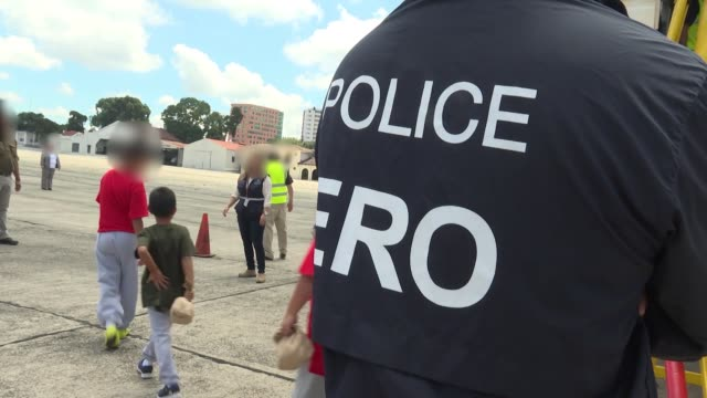 us immigration and customs enforcement and enforcement and removal operations conducted a family unit repatriation flight to guatemala on tuesday... - department of homeland security stock videos & royalty-free footage