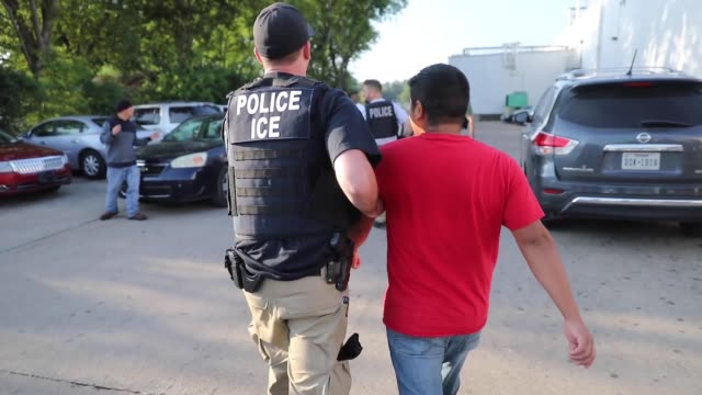 immigration and customs enforcement conducted a worksite enforcement operation in canton, mississippi. - frame border stock videos & royalty-free footage