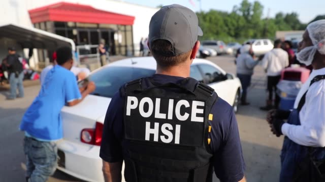 us immigration and customs enforcement conducted a worksite enforcement operation in canton mississippi - department of homeland security stock videos & royalty-free footage