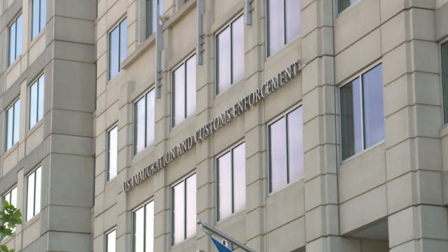 us immigration and customs enforcement department of homeland security building in washington dc - department of homeland security stock videos & royalty-free footage