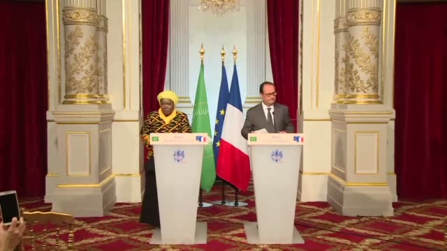 immigration at the heart of discussions between french president francois hollande and african union chairperson nkosazana dlamini zuma - chairperson stock videos & royalty-free footage