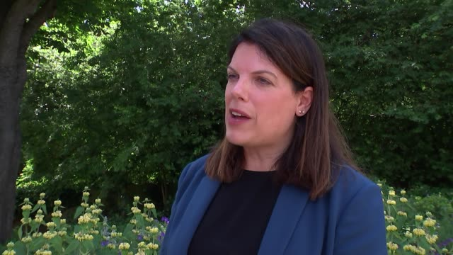 caroline nokes meets refugees families in west dulwich; england: london: lambeth: west dulwich: all saints church: ext caroline nokes mp interview... - dulwich stock videos & royalty-free footage