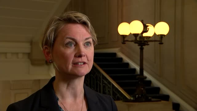 freedom of movement between EU and UK will end say government ENGLAND London INT Yvette Cooper MP interview SOT