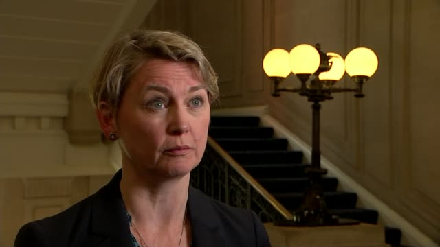 freedom of movement between EU and UK will end say government Westmnster INT Yvette Cooper MP interview SOT/ Unidentified Location Various of Carlos...