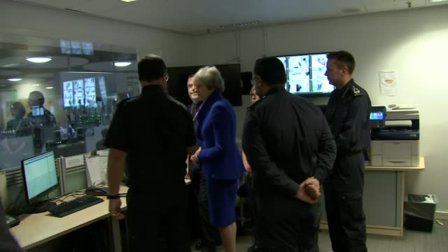 Government publishes white paper for postBrexit rules ENGLAND London Heathrow Airport Terminal 5 INT Various shots of Theresa May MP chatting to UK...