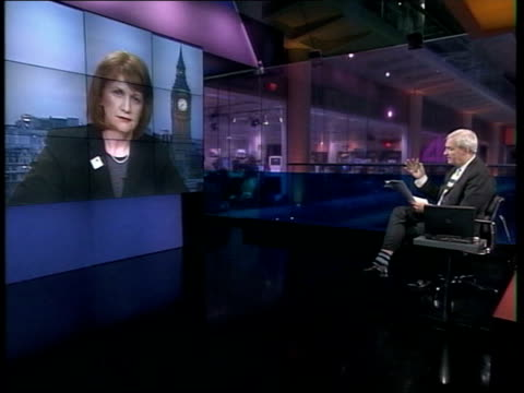 immigration minister beverley hughes resigns lib excerpts from beverley hughes mp interview with john snow sot we haven't had these allegations put... - john w. snow politician stock videos and b-roll footage