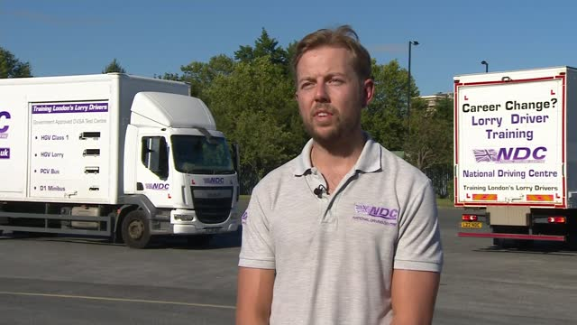 immigration rules to be relaxed to allow in more foreign lorry drivers as motorists face long petrol queues; england: ext various of man filling... - itv news at ten stock videos & royalty-free footage