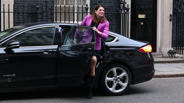 Immigration Secretary Caroline Nokes arrives as government ministers attend the first Cabinet meeting of the year at 10 Downing Street on January 9...
