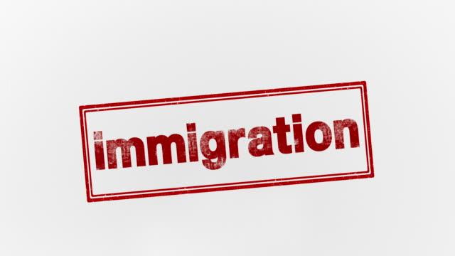 vidéos et rushes de immigration - bol vide