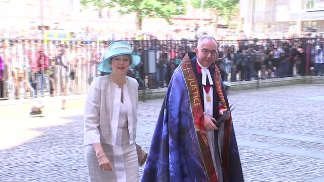 windrush 70th anniversary service at westminster abbey arrivals england london westminster westminster abbey photography** sadiq khan arriving /... - floella benjamin stock videos & royalty-free footage