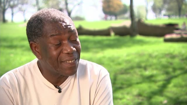 Windrush scandal Albert Thompson receives confirmation he will get NHS cancer treatment London EXT Albert Thompson looking at letter confirming his...