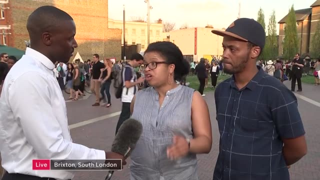 Windrush scandal Brixton protest rally ENGLAND London Brixton SOT*** Kelly Foster and Darrel Simms LIVE interview SOT