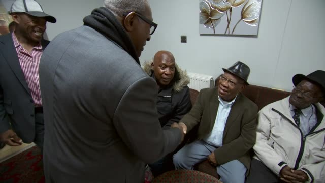 windrush scandal former miners from the caribbean talks of effects england nottinghamshire int various of former miners who came from the caribbean... - contea di nottingham video stock e b–roll