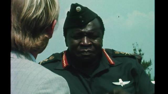 Windrush scandal From open arms to hostile environment T10087201 / UGANDA Kampala Idi Amin interview SOT I want to see that the whole Kampala street...