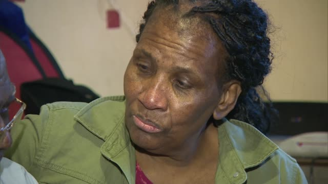 Windrush scandal Story of grandmother facing deportation to Jamaica West Midlands Birmingham INT Yvonne Smith and father Joseph Smith sitting ZOOM IN...