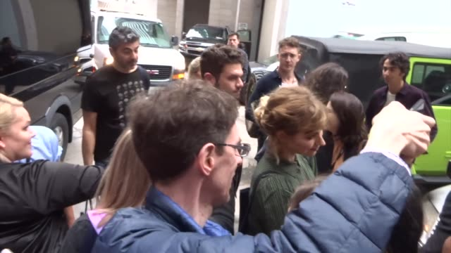imogen poots and keir gilchrist spotted on day 2 of the 2019 toronto international film festival at celebrity sightings in toronto on september 06,... - toronto international film festival stock videos & royalty-free footage