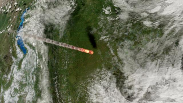 vidéos et rushes de impact at tunguska - météore