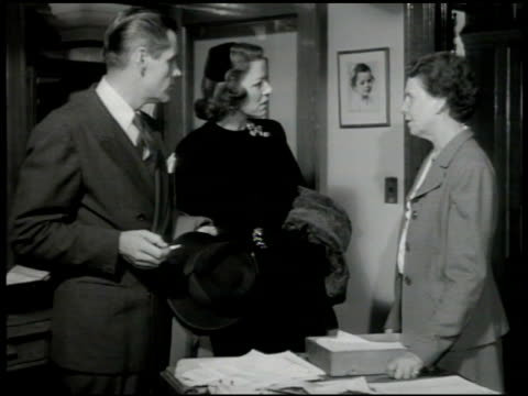 stockvideo's en b-roll-footage met adoption dramatization impatient couple in office w/ social worker woman sot saying she can't believe they have to wait two years for a child knows... - 1946