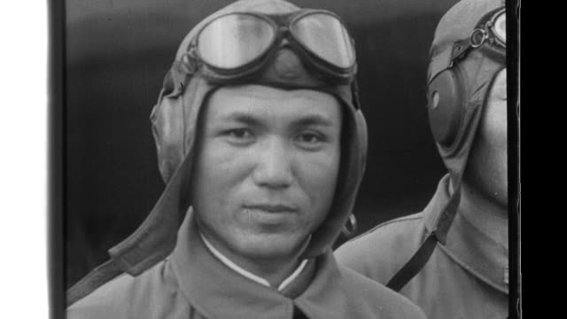 imperial japanese army and navy pilots pose and then march to their aircraft where ground crews cheer them as they take off. - royal navy stock videos & royalty-free footage