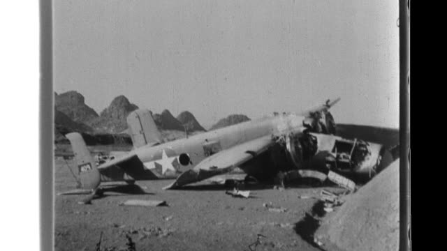 imperial japanese army forces use artillery as they attack the airbase at guilin where they destroy several american aircraft and then overrun... - airfield stock videos & royalty-free footage