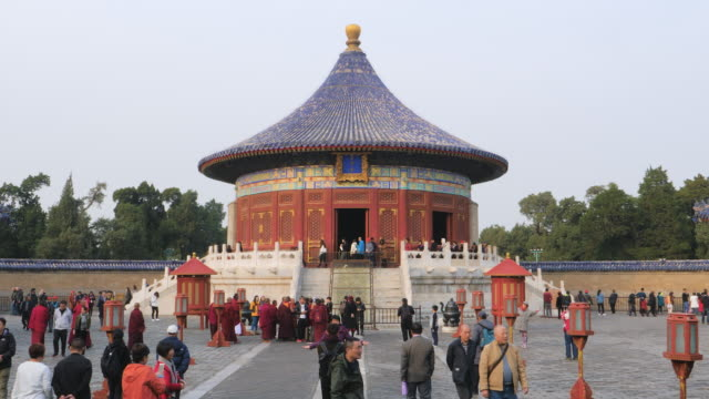 ws imperial vault of heaven, temple of heaven, unesco world heritage site, beijing, china - himmelstempel stock-videos und b-roll-filmmaterial