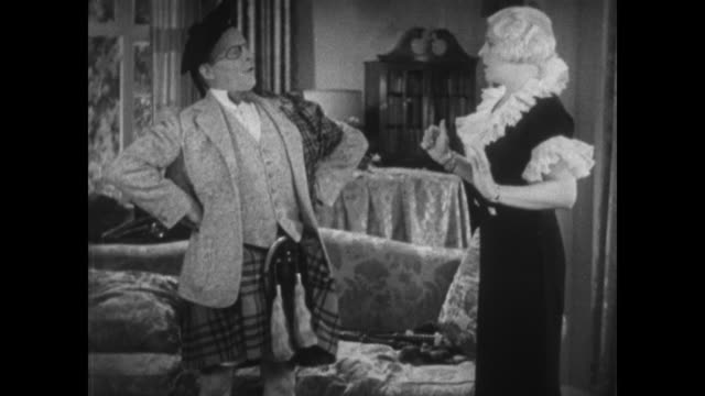 1934 Impertinent man falls off woman's lap when she gets up