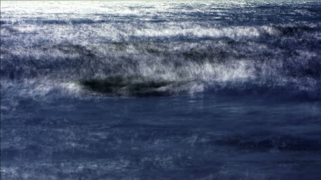 impressionistic waves roll in. - miglioramento digitale video stock e b–roll
