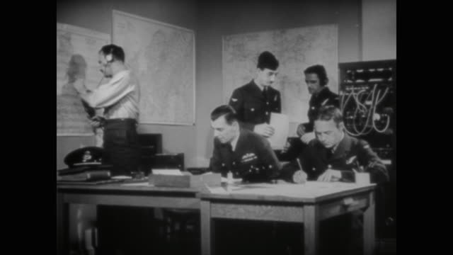 wwii improved coastal listening posts help britain preempt german bomber planes - 1940 stock videos & royalty-free footage