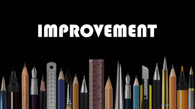 improvement, stop motion animation of wooden pencils, pens, measure, pair of compasses, brush, fountain-pen,  abstract conceptual image, contemporary art, bright idea, opinion, solution, philosophy, back to school - pair of compasses stock videos & royalty-free footage