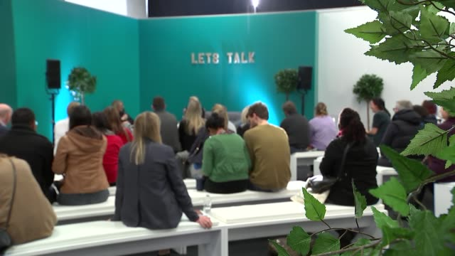 ivf improvements partly to blame for fall in number of adoptions uk london olympia london people attending the fertility show london olympia london... - flyer leaflet stock videos and b-roll footage